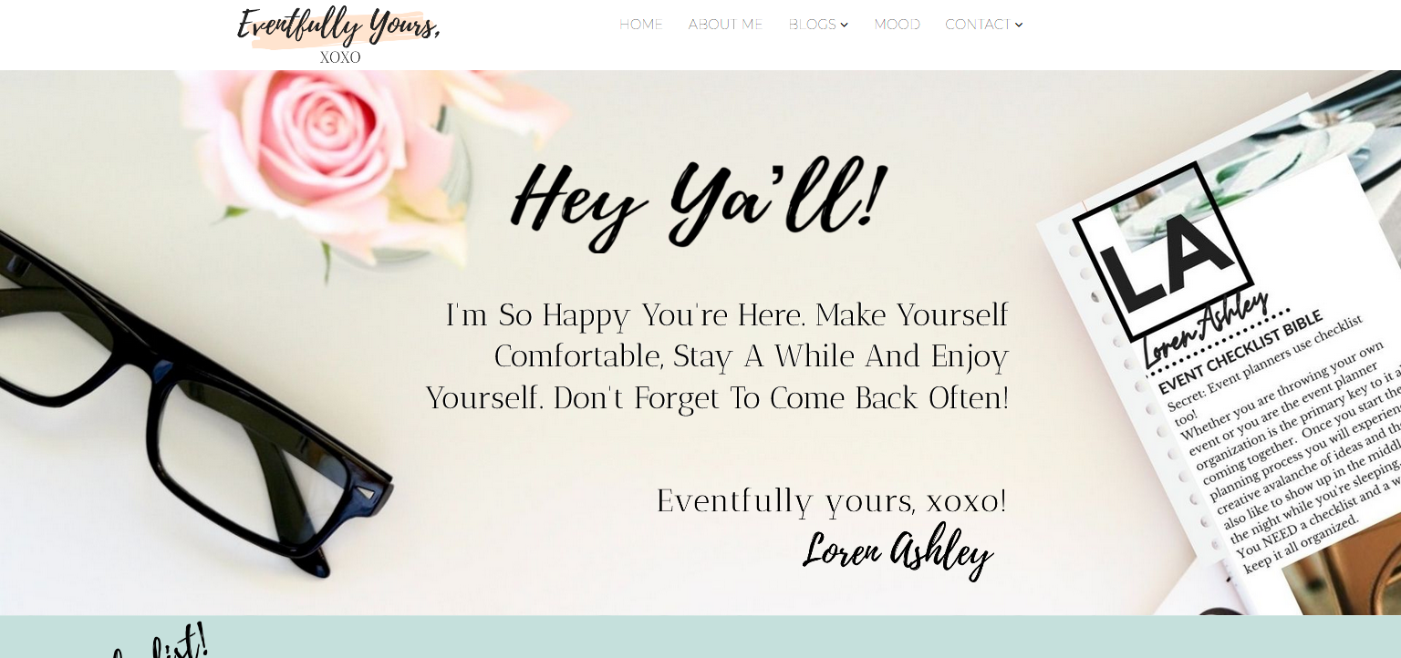 eventfully yours home page